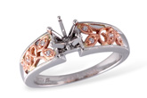 A213-49098: C033-48216 W/ ROSE GOLD INSERT .04 TW