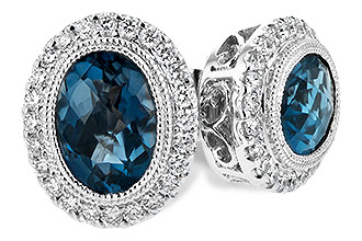 A217-10016: EARR 1.76 LONDON BLUE TOPAZ 2.01 TGW