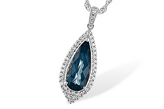 A217-11834: NECK 2.40 LONDON BLUE TOPAZ 2.65 TGW