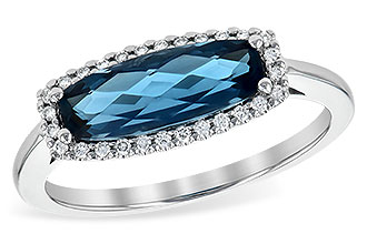 A218-04625: LDS RG 1.79 LONDON BLUE TOPAZ 1.90 TGW