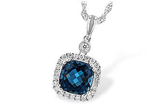 B217-10007: NECK 1.63 LONDON BLUE TOPAZ 1.80 TGW