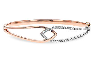 B217-16443: BANGLE BRACELET .50 TW (ROSE & WG)