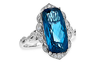 B218-00916: LDS RG 6.75 LONDON BLUE TOPAZ 6.90 TGW
