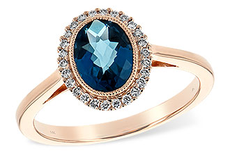 C217-10025: LDS RG 1.27 LONDON BLUE TOPAZ 1.42 TGW