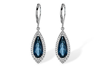 C218-00916: EARR 5.05 LONDON BLUE TOPAZ 5.42 TGW