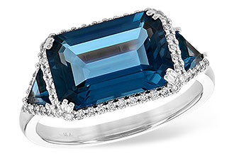 C218-01861: LDS RG 4.60 TW LONDON BLUE TOPAZ 4.82 TGW