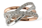 D215-32743: LDS WED RG .42 TW (2 ROSE GOLD BARS)