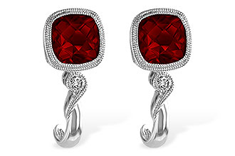 E211-70988: EARRINGS 2.36 GARNET 2.40 TGW