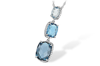 E216-24606: NECK 8.71 BLUE TOPAZ 8.89 TGW