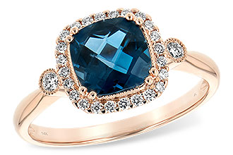 E217-10025: LDS RG 1.62 LONDON BLUE TOPAZ 1.78 TGW