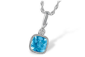 F214-42770: NECK 1.03 BLUE TOPAZ 1.05 TGW