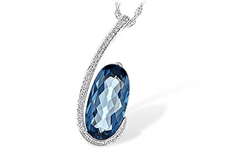 F217-10088: NECK 4.48 LONDON BLUE TOPAZ 4.60 TGW