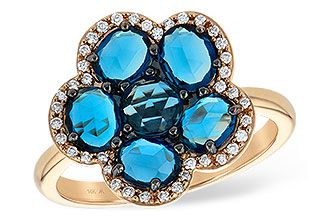 G215-30988: LDS RG 1.82 ROSE CUT BLUE TOPAZ 1.97 TGW