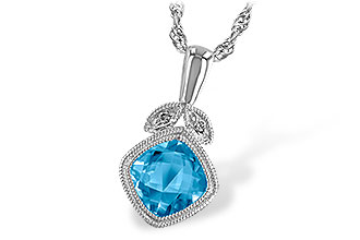 H214-42770: NECK 1.05 BLUE TOPAZ 1.06 TGW