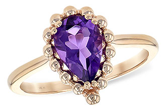 H217-12797: LDS RING 1.06 CT AMETHYST