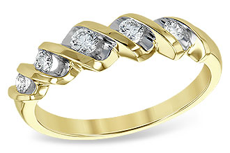 K120-78270: LDS WED RING .25 TW