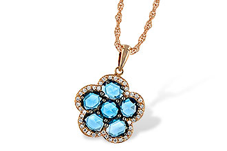 K215-30970: NECK 1.80 ROSE CUT BLUE TOPAZ 1.95 TGW