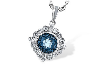 K217-11870: NECK .98 BLUE TOPAZ 1.10 TGW