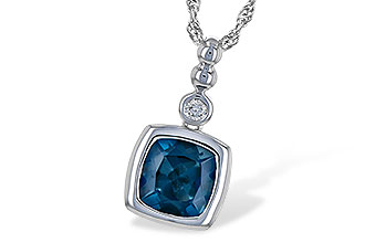 K218-02742: NECK 1.50 LONDON BLUE TOPAZ 1.54 TGW