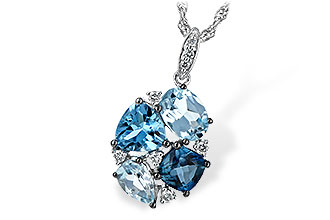 L217-10006: NECK 2.60 BLUE TOPAZ 2.70 TGW